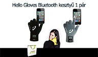 Hello Gloves Bluetooth keszty� - 1 p�r