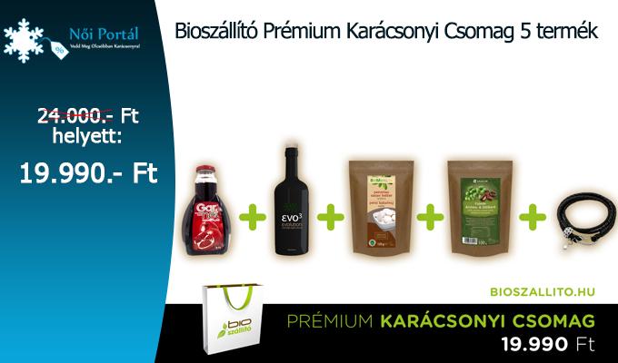 Biosz�ll�t� Pr�mium Kar�csonyi Csomag 5 term�k