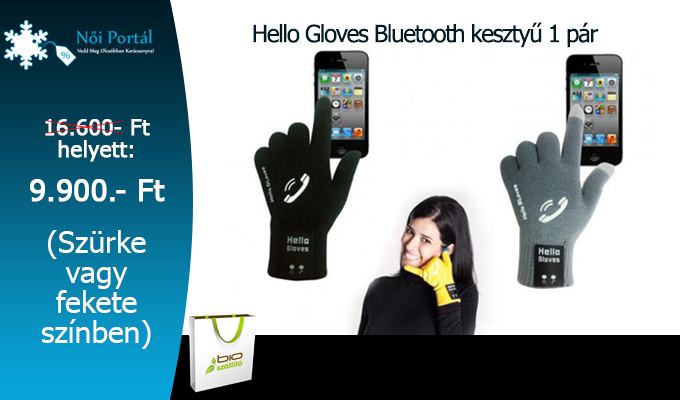 Hello Gloves Bluetooth keszty� - 1 p�r