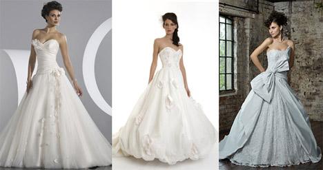 46c1141e72 Ha szereted a kosztümös filmeket és a romantikus esküvők híve vagy, akkor a  bálkirálynő fazon lesz a kedvenced. A klasszikus menyasszonyi ruha nőies,  ...