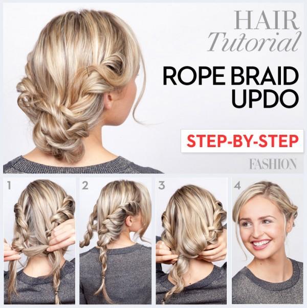 Így tűzd fel a hajad - lépésről lépésre